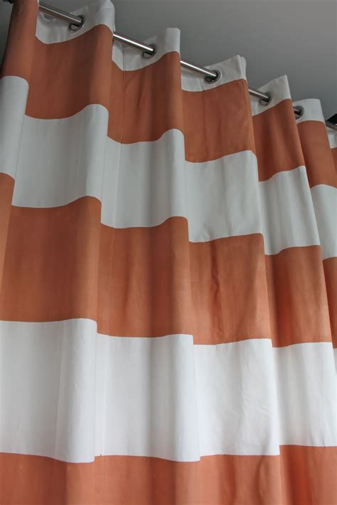 diy striped curtains dwellings by devore striped shower curtain diy style