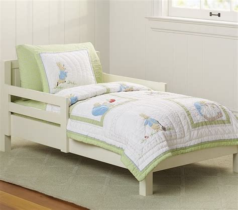 rabbit bedding peter rabbit toddler quilted bedding pottery barn kids