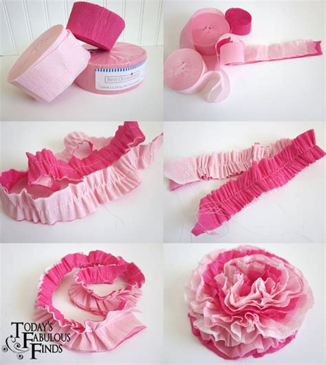 Make Crepe Paper Roses - create a tutu with tissue paper invitations ideas