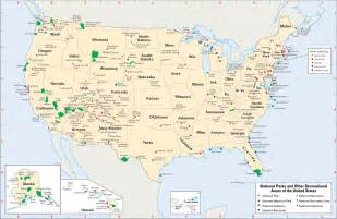 map of every national park in the u s ecoclimax