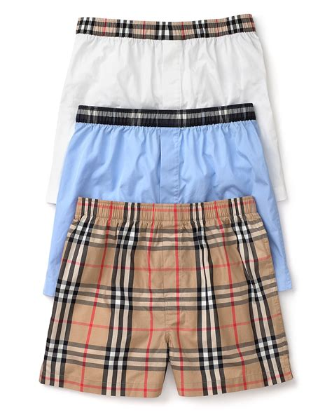 Set Burbery Bag 3 In 1 burberry check woven boxers set of 3 bloomingdale s