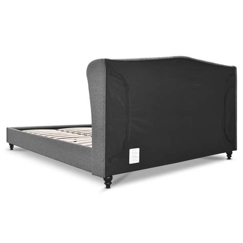 double bed frame with headboard double fabric bed frame with headboard grey direct bargain
