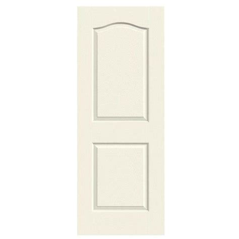 jeld wen 24 in x 80 in molded smooth 2 panel arch plank jeld wen 24 in x 80 in molded textured 2 panel eyebrow