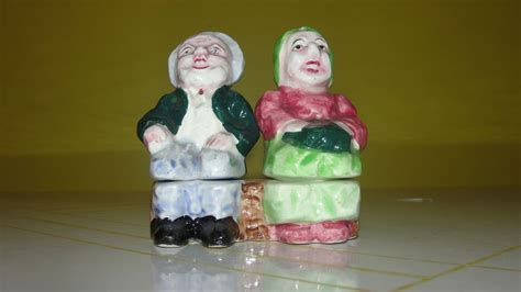 woman w salt pepper golden years man and woman salt and pepper shakers from
