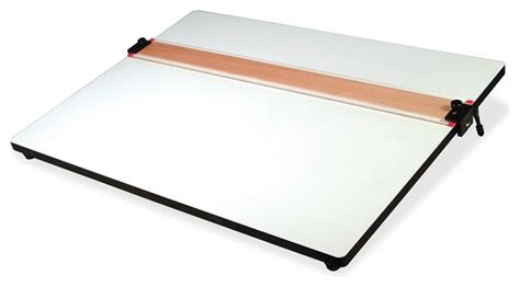 Helix Parallel Straight Edge Drawing Board Plastic White Drafting Table Edge