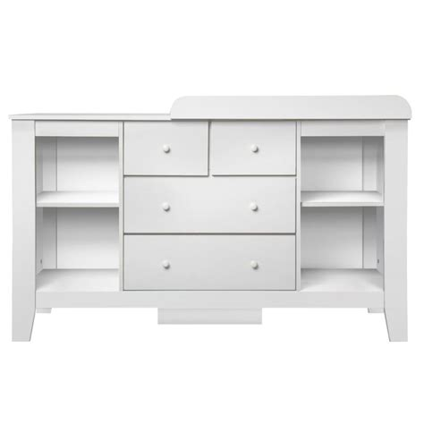 Baby Changing Table With Drawers Baby Change Table Station With 4 Drawers In White Buy Changing Tables