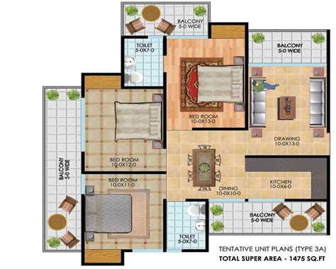 3bhk plan 100 3bhk plan millennium floor plans 2bhk 3bhk