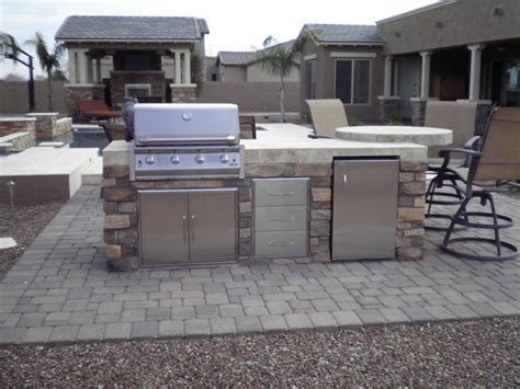 backyard bbq design perfect steaks using your arizona outdoor kitchen