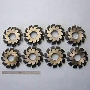 Gear Cutter Set by Involute Gear Cutter Set Module M4 5 20 176 M2 Hss 1 8 Spline Modulfr 228 Ser Satz Ebay