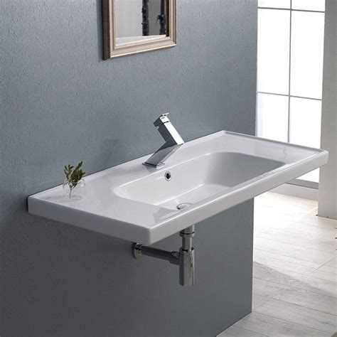 kitchen sink frame frame rectangle ceramic 40 quot sink zuri furniture