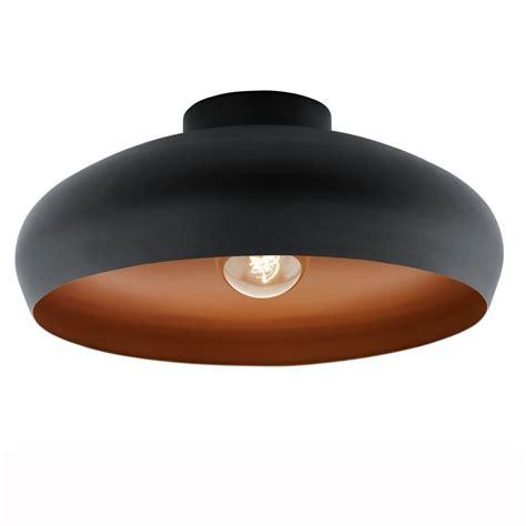Black Light Fittings Ceiling Eglo 94547 Black And Copper Mogano Ceiling Light