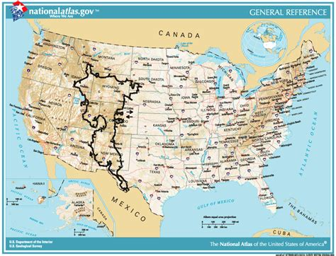 rocky mountains usa map usa reiserouten