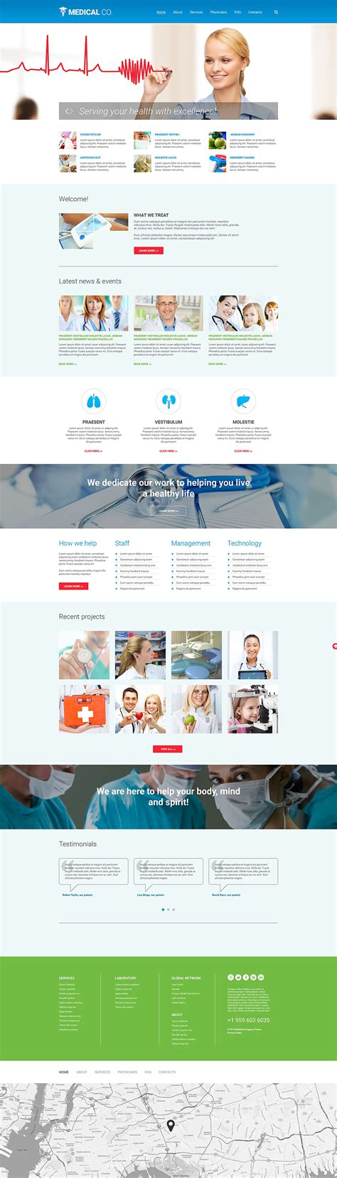 responsive website templates for quiz medical responsive website template 55567 by wt website