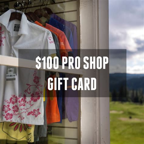 Redstone Gift Card - 100 pro shop gift card redstone resort