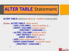 Alter Table Drop Constraint by Database Systems Sql Ddl Statements Chapter 3 2