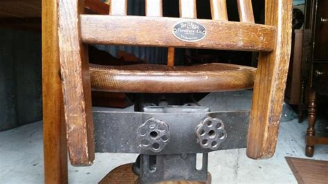 antique oak office chair h krug furniture co central