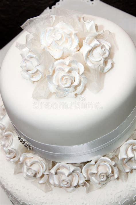 White wedding cake stock photo. Image of bakery, marriage