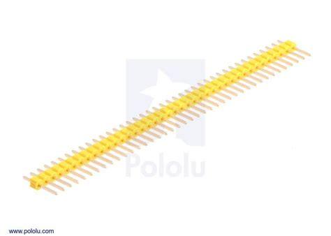 Cnc Pin Header Single Row 1x40 2 54mm Black Hitam 0 100 quot 2 54 mm breakaway header 1 215 40 pin