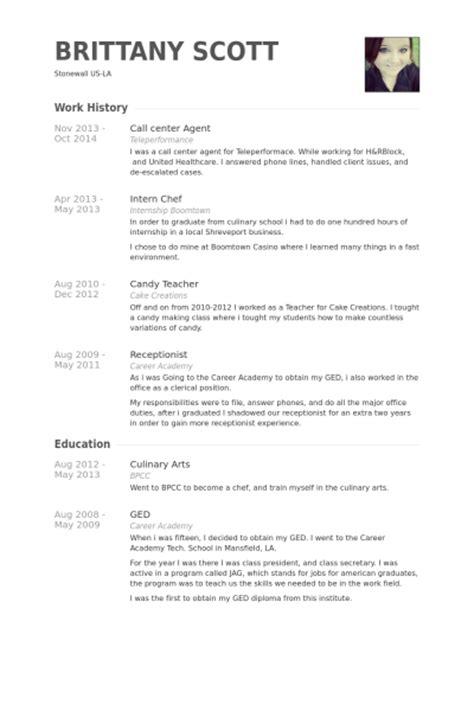 Call Center Agent Resume Samples   VisualCV Resume Samples