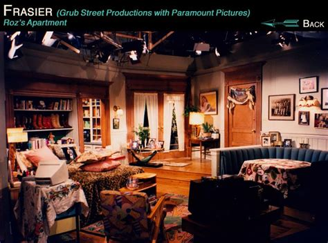 frasier living room this is roz s home from the set of frasier the boot quot headboard quot and all the patterns in