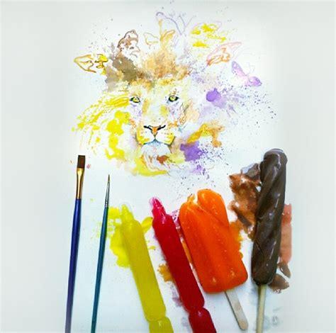 cara membuat warna coklat dengan cat air seniman asal irak ini buat lukisan keren dari es krim