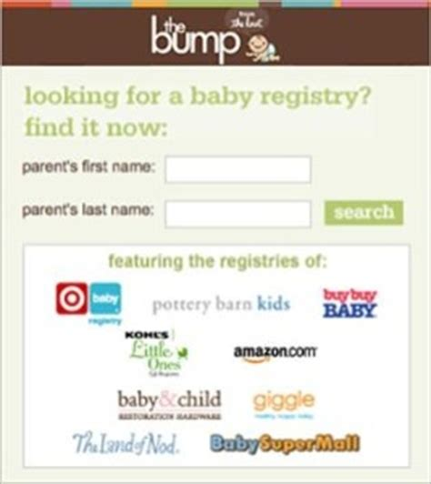 thebump delivers world s only baby gift registry