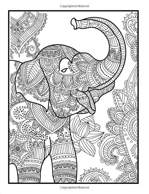 stress relief coloring pages elephant amazon com elegant elephants an adult coloring book with