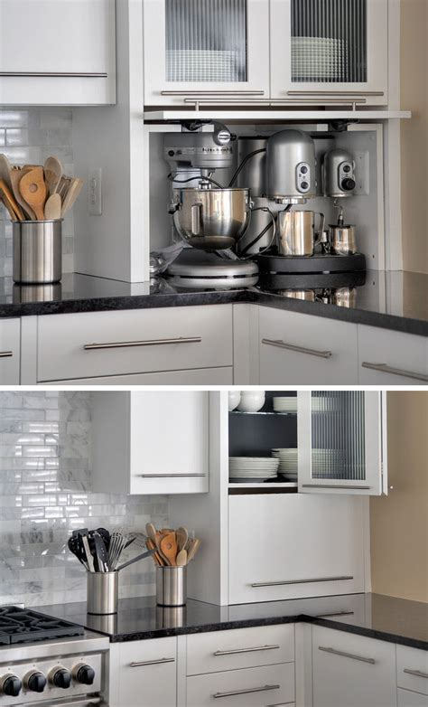 appliance cabinets kitchens kitchen design idea store your kitchen appliances in an