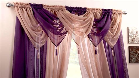VOILE SWAG SWAGS TASSLE DECORATIVE NET CURTAIN DRAPES PELMET VALANCE 21 Colours   eBay