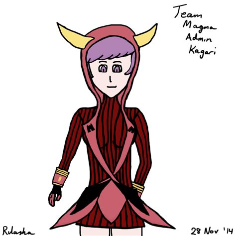 team magma admin redrawn by team magma admin kagari by rilasha on deviantart