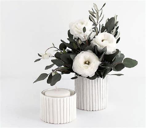 kerzenhalter vase black vase with white flowers silk floral