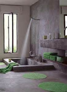 shower and sunken tub home style