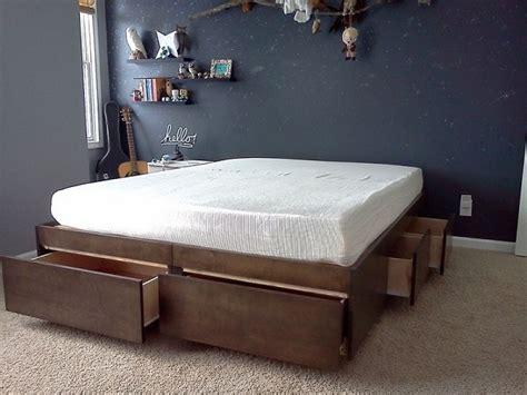 diy bed with storage 10 diy storage bed ideas home design garden