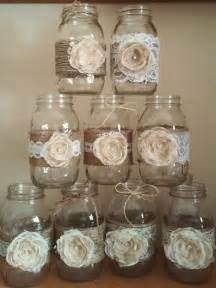 shabby chic wedding decorations for sale 10 shabby chic jar sleeves rustic wedding