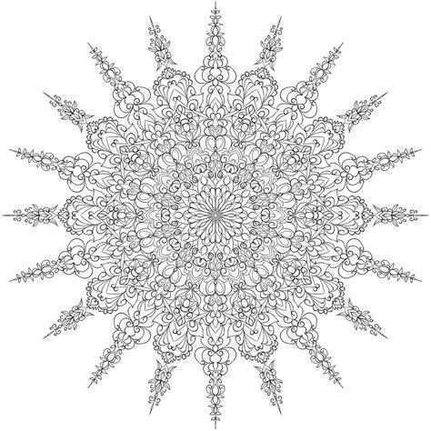 snowflake mandala coloring pages coloring page mandala snowflake coloring sheets