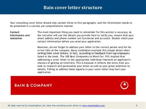 cover letter bain and company bain cover letter sle