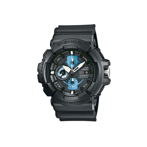 G Shock Gac 1200 Blue Black mens casio g shock x large gents black with blue sub dials gac 100 1a2er market