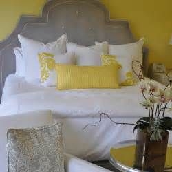 grey and yellow bedroom decor yellow pillows design ideas
