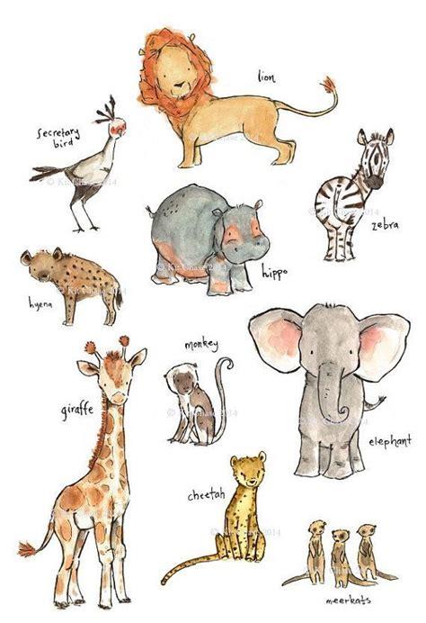 doodle name reza as 25 melhores ideias de watercolor animals no