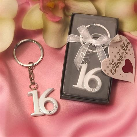 Sweet 16 Birthday Giveaways - buy sweet 16 keychain keyring birthday party favors online at yacanna com