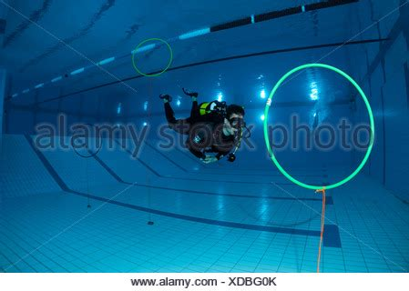 diver training in a swimming pool, buddy dive resort, a