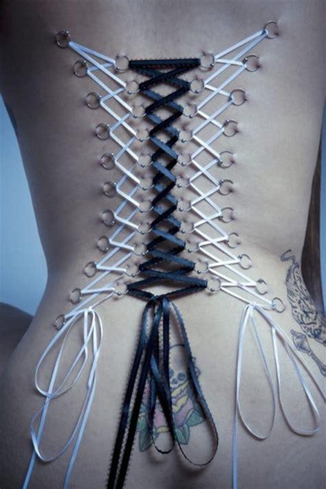get beautiful corset piercing examples piercingeasily com