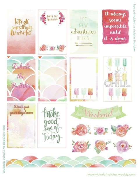 cute planner stickers free printable free watercolor printable planner stickers planners