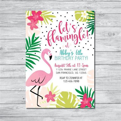 Flamingo Birthday Invitation Let S Flamingle Invitation Flamingo Invitation Template Free