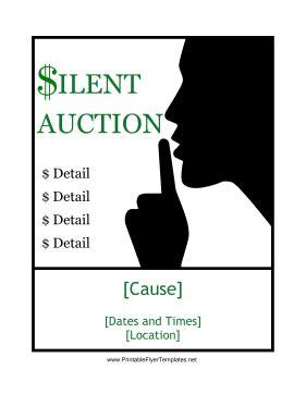 Silent Auction Flyer 2 Auction Flyer Template