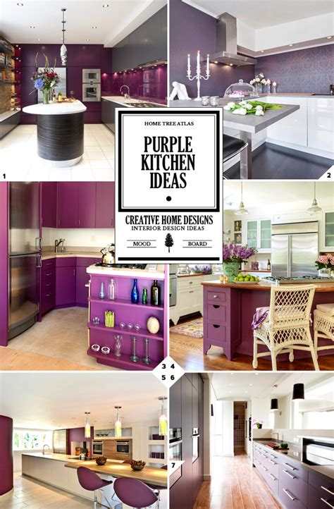 purple kitchens design ideas color design guide purple kitchen decor ideas home tree