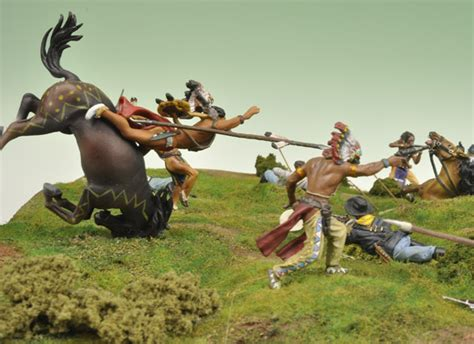Tamiya Hawk By Toys custer s last stand a diorama using 1 32nd scale