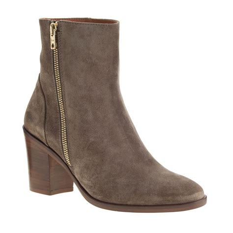 wyatt boots j crew wyatt suede boots in brown mink lyst