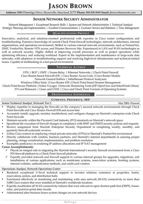Network Administrator Resume Template by 8 Best Images About Best It Director Resume Templates Sles On Its You It Is