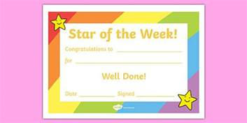 Of The Week Certificate Template by Of The Week Award Certificate Of The Week
